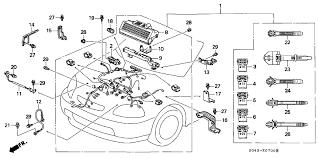 1997 honda civic 4 door ex ka 4at engine wire harness 1997 honda civic door wiring harness at 1997 Honda Civic Wiring Harness