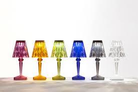 battery led wireless lamp  wireless  usb plum by kartell