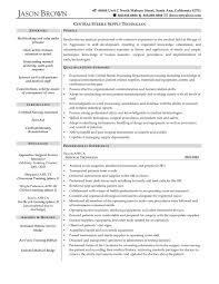 Process Technician Resume Sample Sterile Processing Technician Resume 60 awesome image of sterile 2