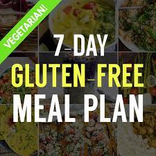 7 Day Gluten Free Vegetarian Meal Plan Free To Download