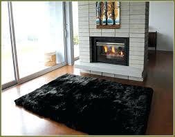black fur rug furry target black fur rug