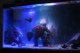 Funny Fish Tank Decorations Made A Little Bioshock Fish Tank Gaming