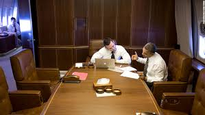 air force 1 office. Obama Works With Jon Favreau, Director Of Speechwriting, Aboard Air Force One En Route 1 Office S