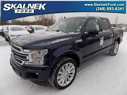 2018 ford f150 blue. new 2018 ford f-150 limited truck in lake orion, mi f150 blue