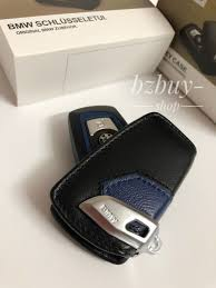 awesome new leather genuine bmw key fob holder bag cover case sport line 2 3 5seriesx3 2019
