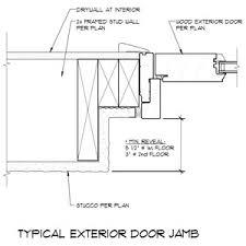 exterior door jamb. Exterior Door Jamb Detail R