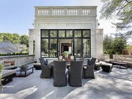 Patio Terrace Off Of Living Room Italian Villa In Glencoe IL - Design homes inc