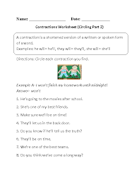 Englishlinx.com   Contractions Worksheets