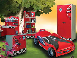 Race Car Room Decor Boys Bedroom Enchanting Red Sport Theme Kid Bedroom Design And