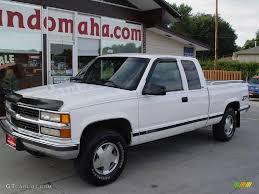 1996 Olympic White Chevrolet C/K K1500 Silverado Extended Cab 4x4 ...