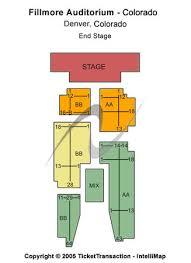 Fillmore Auditorium Seating Chart Fillmore Auditorium Tickets In Denver Colorado Fillmore