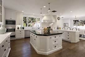 White Kitchen Dark Wood Floors Kitchen Designs Country Kitchen With Interior Decor White Wood