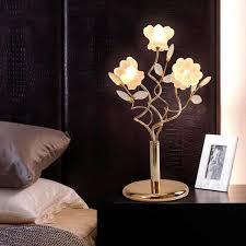ZYY European Luxury Crystal Table Lamp Creative Flower Lights Modern Living  Room Bedroom G4 LED Desk