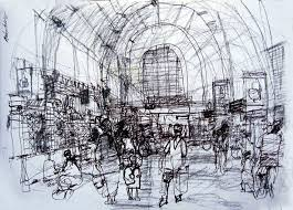 rough architectural sketches. Plain Rough Azis Tirtaatmadja Rough Sketch Beos Station  Jakarta 2 For Architectural Sketches E