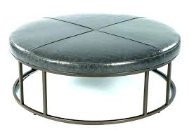round leather ottoman coffee table with storage square faux circle