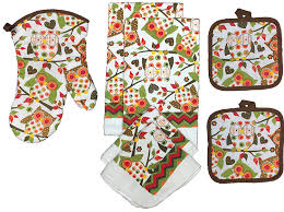 owl kitchen towel set great for fall set of 7 domesticdivass