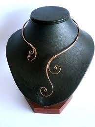 17 best ideas about wire necklace wire wrapping copper necklace wire wrapped collar statement by natalistudio