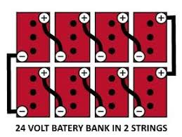 what voltage should my battery bank be? 12, 24, or 48 how to connect 4 12v batteries to make 48v at 24 Volt Battery Bank Wiring