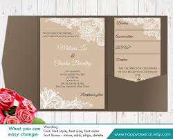 diy printable pocket wedding invitation template set instant editable text rustic burlap lace microsoft word format hbc1