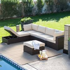 create a warm place in the outside of house with outdoor sectional8 outdoor