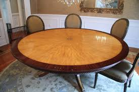 7ft dining table: large custom american made satinwood and mahogany round dining table