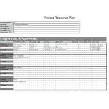 Resource Planning Excel Templates Sample Project Plan Template Project Schedule In Excel Procurement