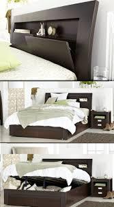 Metropolis Bedroom Furniture Featuring a gas lift posture slat base, the  Metropolis walnut bedroom suite