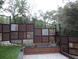corrugated metal fence panels. Fence Made Using Old Corrugated Metal Roofing. Panels O