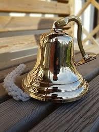 3 brass ship bell wall hanging bracket