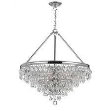 crystorama calypso 6 light crystal teardrop chandelier 3