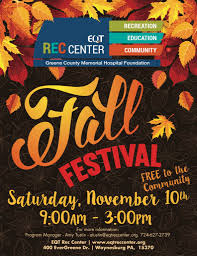 Fall Festival Flier Fall Festival Eqt Rec Center Waynesburg Pa 15370