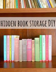 DIY Projects Made With Old Books - DIY Hidden Book Storage - Make DIY Gifts,