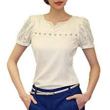 TOOGOOR <b>Womens Chiffon Shirt</b> Lace Top <b>Beading</b> Embroidery O ...