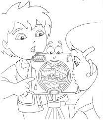 Kleurplaat Tv Series Kleurplaat Diego Go Animaatjesnl
