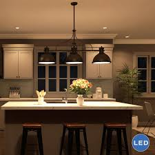 Led Pendant Lights Kitchen Vonnlighting Dorado 3 Light Kitchen Island Pendant Reviews Wayfair