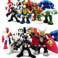 <b>6Pcs</b>/<b>Set Hasbro Marvel Avengers</b> Action Figures Doll <b>Iron</b> Man ...