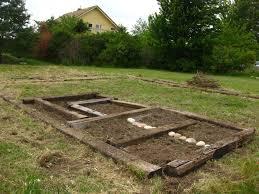 build raised garden bed railroad ties home outdoor decoration