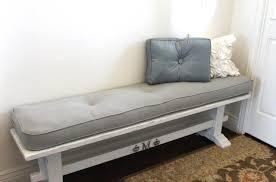 plain aqua blue indoor bench cushion with ties 5 foot indoor bench