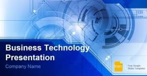 Blue Technology Business Presentation Free Google Slides