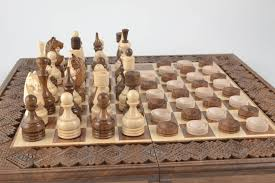 Handmade Wooden Board Games MADEHEART Handmade wooden table game chess and checkers 24