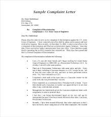 letter of complaint format co letter of complaint template 10 word pdf documents