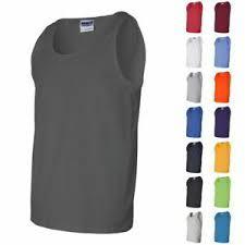 Gildan Ultra Cotton Tank Size Chart Details About Gildan Ultra Cotton Mens Sleeveless Guys Shirts Tank Tops 2200