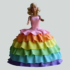 Splash Of Colours Barbie Cake 2kg Chocolate Gift Barbie Rainbow