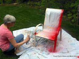 spray painted furniture ideas. Spray Painted Furniture Ideas. Painting The Chair Red Ideas
