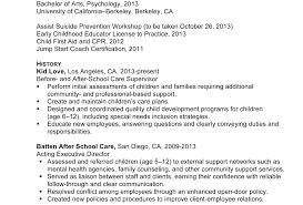 After School Program Director Sample Resume Sports Attorney Sample