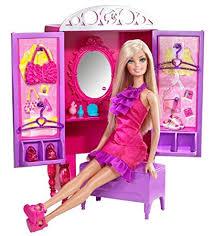 barbie dress up to make up closet and doll set