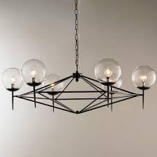 lighting globes glass. Modern Pyramid Glass Globes Chandelier Black Lighting P