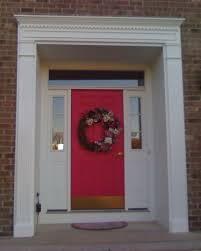 front door hangingsEnchanting Entry Door Trim Color in Pink Color Shades Using Brass