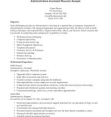 Admin Objective For Resume Administrative Resume Samples Cover ...