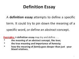 definition of a essay co definition